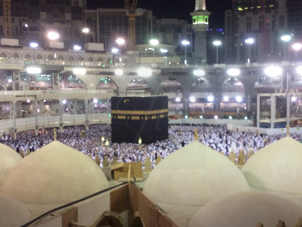 Umrah Banner: Behind The Old Domes